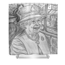 Shower Curtain featuring the drawing Diamond Jubilee by Teresa White