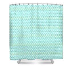 Diamond Rain Aqua Shower Curtain