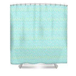 Diamond Rain Aqua Shower Curtain