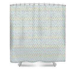 Diamond Rain Faded Gray Shower Curtain