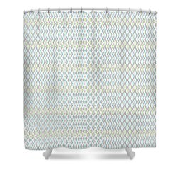 Diamond Rain Faded Gray Shower Curtain