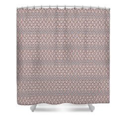 Diamond Rain Tan Shower Curtain