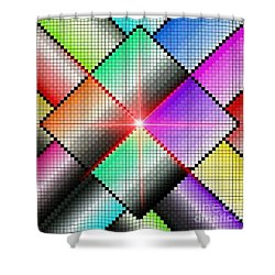 Diamond Rainbow Shower Curtain