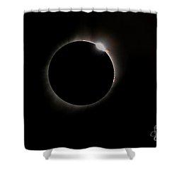 Diamond Ring Eclipse Shower Curtain