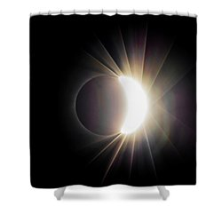 Shower Curtain featuring the photograph Diamond Ring With Flare During Solar Eclipse by Lori Coleman