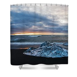 Diamond Sunrise, Jokulsarlon Bay, Iceland Shower Curtain