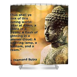 Diamond Sutra Quotation Art Shower Curtain