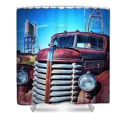 Diamond T Shower Curtain