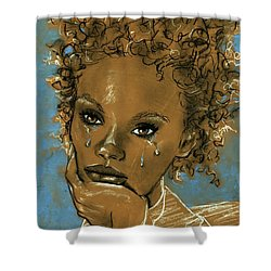 Diamond's Daughter Shower Curtain by P J Lewis