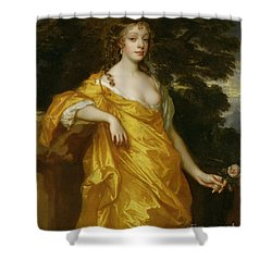 Diana Kirke-later Countess Of Oxford Shower Curtain by Sir Peter Lely