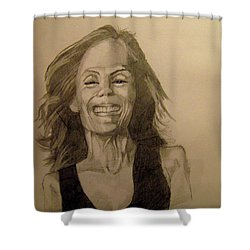 Shower Curtain featuring the painting Diana by Ray Agius