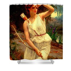 Diana The Huntress Guillaume Seignac  Shower Curtain