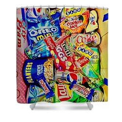 Dibs On The Baby Ruth Shower Curtain