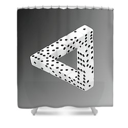Dice Illusion Shower Curtain by Shane Bechler