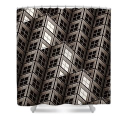 Dices Noir Shower Curtain