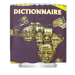 Dictionary Of Negroafrican Celebrities 1 Shower Curtain by Emmanuel Baliyanga