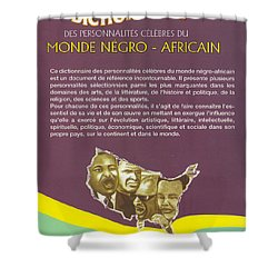 Dictionary Of Negroafrican Celebrities 2 Shower Curtain by Emmanuel Baliyanga