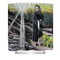Did You Do That? Shower Curtain