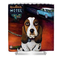 Did You Forget Something Shower Curtain by Leah Saulnier The Painting Maniac