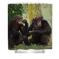 Shower Curtain featuring the painting Did You See That by Judy Kay