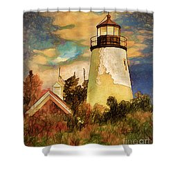 Dice Head ,castine, Maine Shower Curtain by Dave Higgins