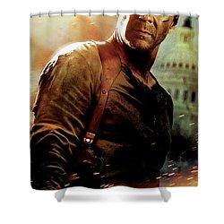 Die Hard 4.0 2007 Shower Curtain