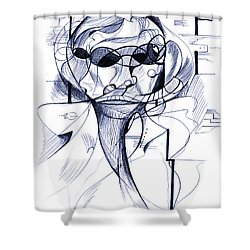 Diego At The Door Shower Curtain by Nicholas Burningham