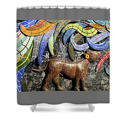 Diego Rivera Mural 4 Shower Curtain by Randall Weidner