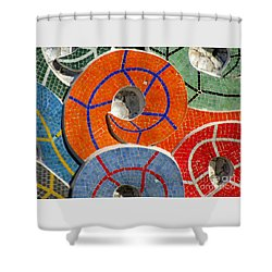 Diego Rivera Mural 8 Shower Curtain by Randall Weidner