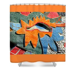 Diego Rivera Mural 9 Shower Curtain by Randall Weidner