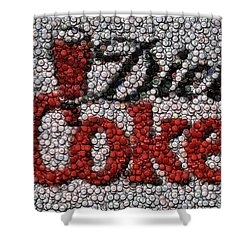 Diet Coke Bottle Cap Mosaic Shower Curtain by Paul Van Scott