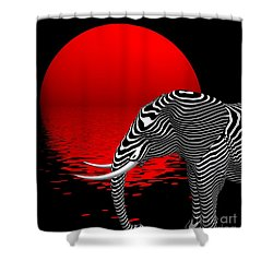 Digiphant Shower Curtain