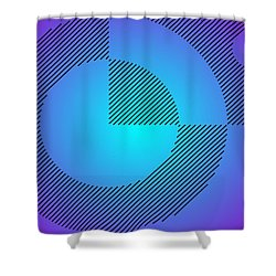 Digital Abstract Art 001 A Shower Curtain by Larry Capra