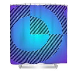 Digital Abstract Art 001 A Shower Curtain