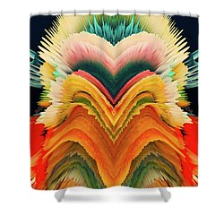 Shower Curtain featuring the photograph Vivid Eruption by Colleen Taylor