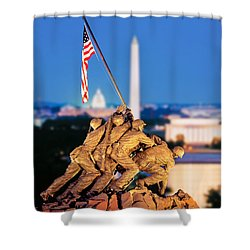 Digital Composite, Iwo Jima Memorial Shower Curtain
