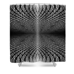 Digital Divide Vortex Shower Curtain by Gordon Dean II
