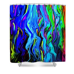 Digital Drip Shower Curtain