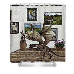 Digital Exhibition _ Dragon Shower Curtain