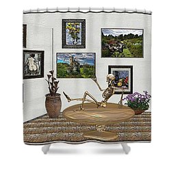 Digital Exhibition _ Relaxation In The Afterlife Shower Curtain