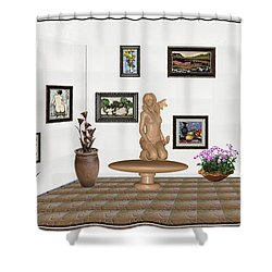 digital exhibition _ Sculpture 7 of girl  Shower Curtain