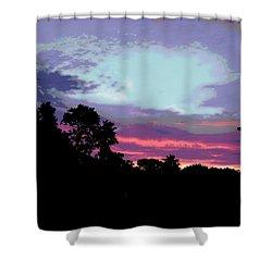 Digital Fine Art Work Sunrise In Violet Gulf Coast Florida Shower Curtain