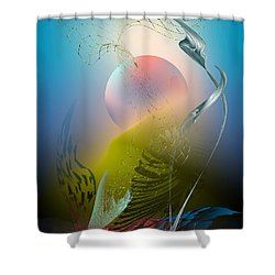 Digital Garden 4 Shower Curtain
