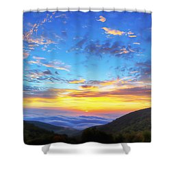 Digital Liquid - Good Morning Virginia Shower Curtain