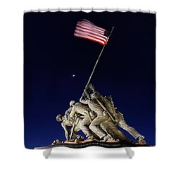 Digital Liquid - Iwo Jima Memorial At Dusk Shower Curtain