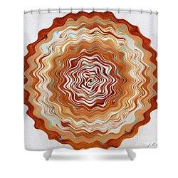Digital Mandala 21 Shower Curtain