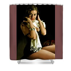 Digital Model Shower Curtain