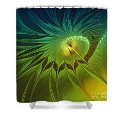 Digital Nature Shower Curtain