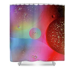 Shower Curtain featuring the photograph Digital Oil Drop Abstract by John Williams
