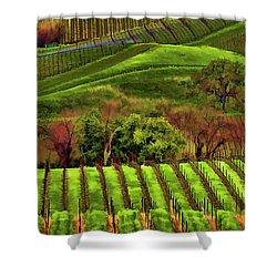 Enhanced Stunning Napa Valley Vineyards Vibrant  Shower Curtain